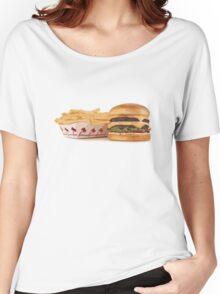 Burger & Fries Women's Relaxed Fit T-Shirt