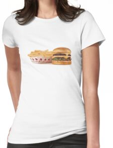 Burger & Fries Womens Fitted T-Shirt