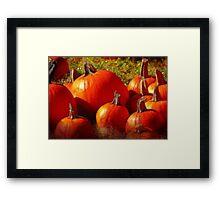 Fall Harvest - Textures Framed Print