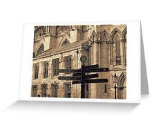 York Minster Signs Greeting Card