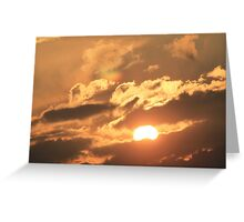 Sunset in the Countryside  Greeting Card