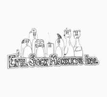 Evil Sock Monkeys Crew Kids Tee