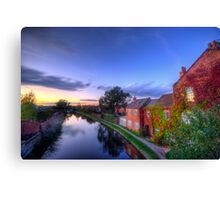 Loughborough Canal Sunset  Canvas Print