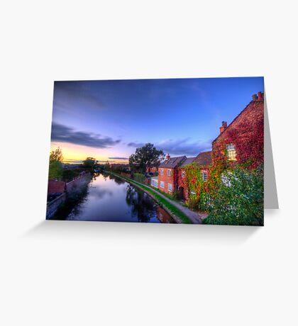 Loughborough Canal Sunset  Greeting Card