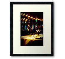 Dinner @ Metro Framed Print