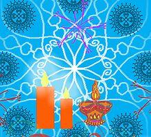 Diwali Greeting by RidhimaArt