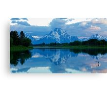 Oxbow Mirror Canvas Print