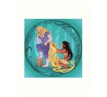 Genderbent Princesses Art Print