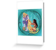 Genderbent Princesses Greeting Card