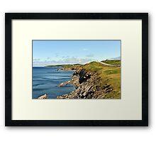 Cape Breton's rugged coast Framed Print