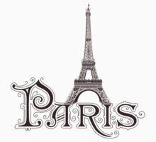 Paris France Eiffel Tower Baby Tee