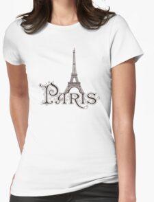 Paris France Eiffel Tower Womens Fitted T-Shirt