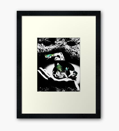 blank expression Framed Print