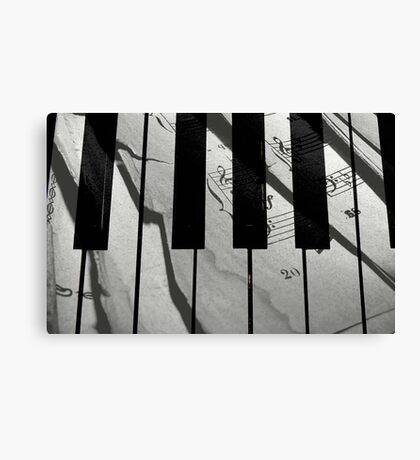 Piano Notes © Canvas Print