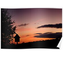 Dusk at the dovecote Poster