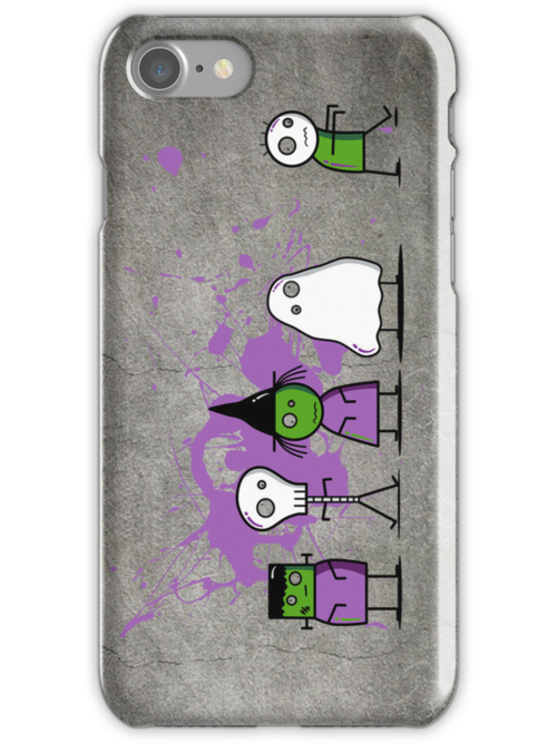 Monster Mash iPhone Case by fishbiscuit