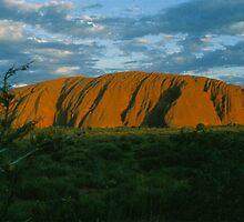 Ayers Rock Near Sunset  by BearheartFoto