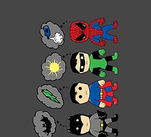 Even Superheroes Have Phobias iPhone Case by fishbiscuit