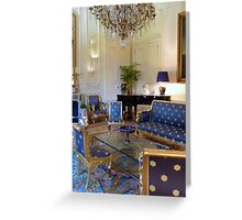 Salon bleu Greeting Card