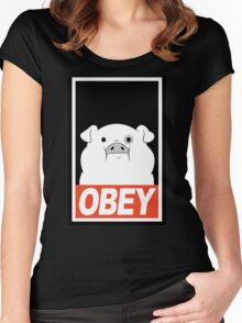OBEY Waddles Women's Fitted Scoop T-Shirt