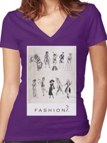 Fashion #1 Women's Fitted V-Neck T-Shirt