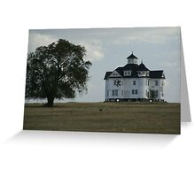 House on a Hill Greeting Card