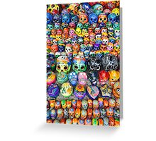 Day of the Dead Skulls Greeting Card