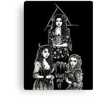 Witches Among Us (black) Canvas Print