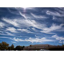 Sunday in Autumn, Clouds Painted Photographic Print