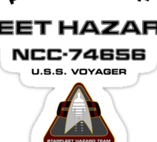 Property of Hazard Team Voyager Hull Markings Version Sticker