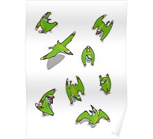 Tiny Pterosaur Bunch (Nemicolopterus) Poster