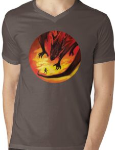 Smaug the Terrible Mens V-Neck T-Shirt