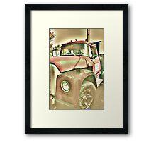 Red Truck Framed Print