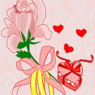 A flower with 2 rings and A Heart shaped Gift box (1310 Views) by aldona