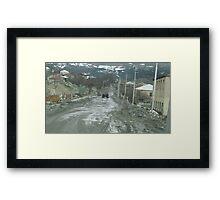 Streetscape, Mestia, Georgia Framed Print