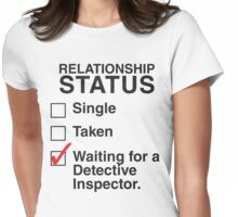 WAITING FOR A DETECTIVE INSPECTOR Womens Fitted T-Shirt