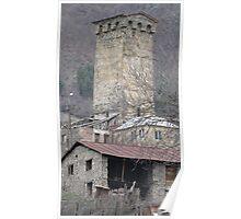 Tower of Mestia, Georgia Poster