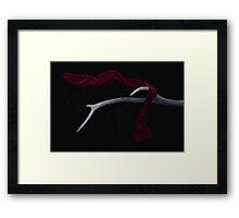 Little Red Ribbon Framed Print