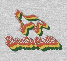 Retro Border Collie Kids Tee