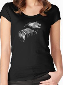 Photographer's camera photography Women's Fitted Scoop T-Shirt