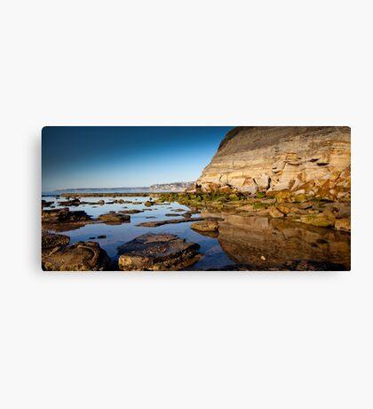 Reflections Bar Beach Cliff Canvas Print