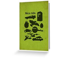 Nice Ride Greeting Card