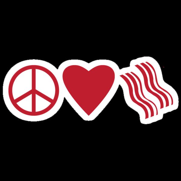 Peace, Love, & Bacon  by Mersbers