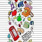 Felt Tip Doodle Case by MojoStaplegun