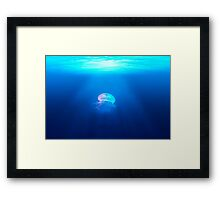 Light in the Sea Framed Print