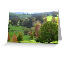 Autumn from Pear Tree Lookout - A Thamo Greeting Card