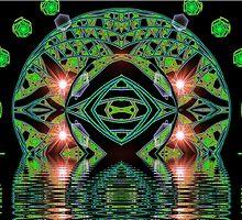 Lazy Julian 1 Glass Hemisphere Lake  (UF0469) by barrowda