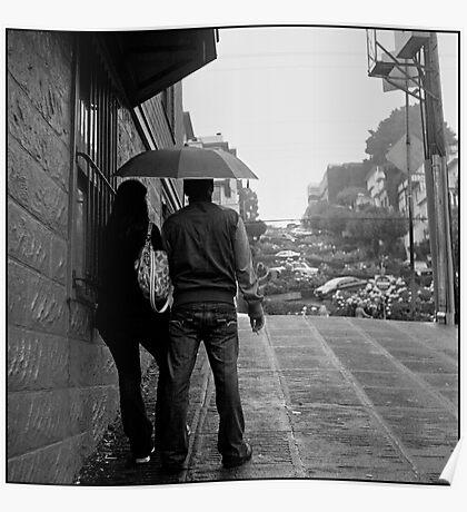 Lombard Street Rainy Day #1 Poster