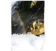 Rainbow Over the Falls Poster