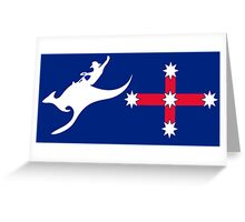 New Australian Flag design AFL2 Greeting Card